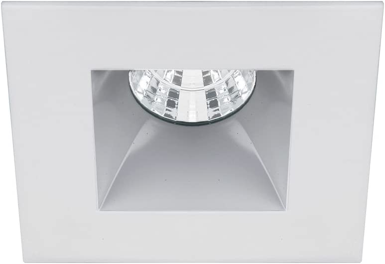 WAC Lighting R2BSD-F930-HZWT Oculux 2 LED Square Flood 3000K Trim with Light Engine and New Construction or Remodel Housing, 50 Beam, Haze White