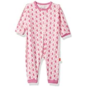 Magnificent Baby Baby Infant Magnetic Coverall, Moderate Owls Pink, 0-3M