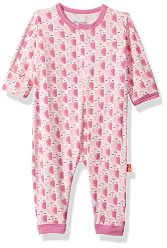 Magnificent Baby Baby Infant Magnetic Coverall, Moderate Owls Pink, -