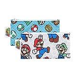 Bumkins Nintendo Super Mario Small Snack Bag, 2 Pack