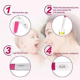 EGENS Home Pregnancy Test Sticks, FDA Approved HCG Test Kit - 3 CT