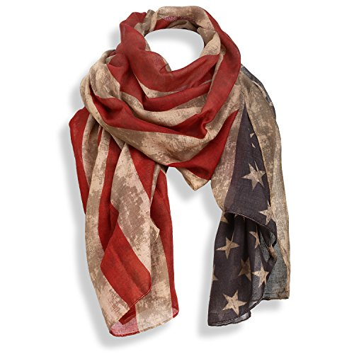 USA Distressed American Flag Scarf for Patriotic Holiday