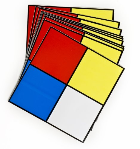 "Brady 58501 5"" Square, B-946 High Performance Vinyl, Black, Red, Blue, Yellow on White Hazardous Material Signal, Legend ""NFPA Diamond"" (Pack of 10)"