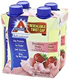 Atkins Ready To Drink Shake, (Strawberry, 11 Ounce, 20 Count)
