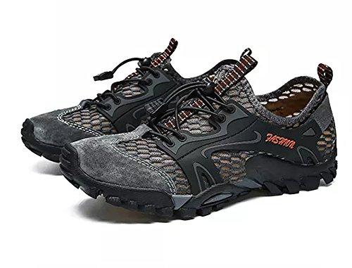 Ginnastica da Escursionismo Sandali Traspirante Moda Maglia Corsa Grigio Casual Scarpe Casual da Uomo Sportivi Scarpe 5wqcfA