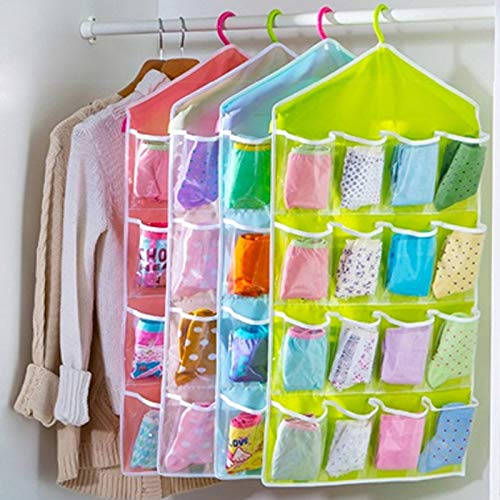 Cajas Organizadoras - 16 Grids Hanging Organizer Underwear Socks Tie Shoes Storage Bag Door Holder Closet - De Baño Maquillaje Rosadas Closet Decorativas ...