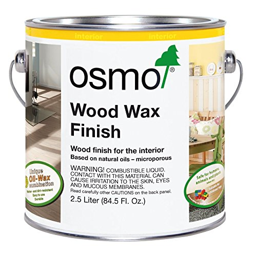 Osmo Wood Wax Finish Transparent 2.5 Litres Granite Grey 3118