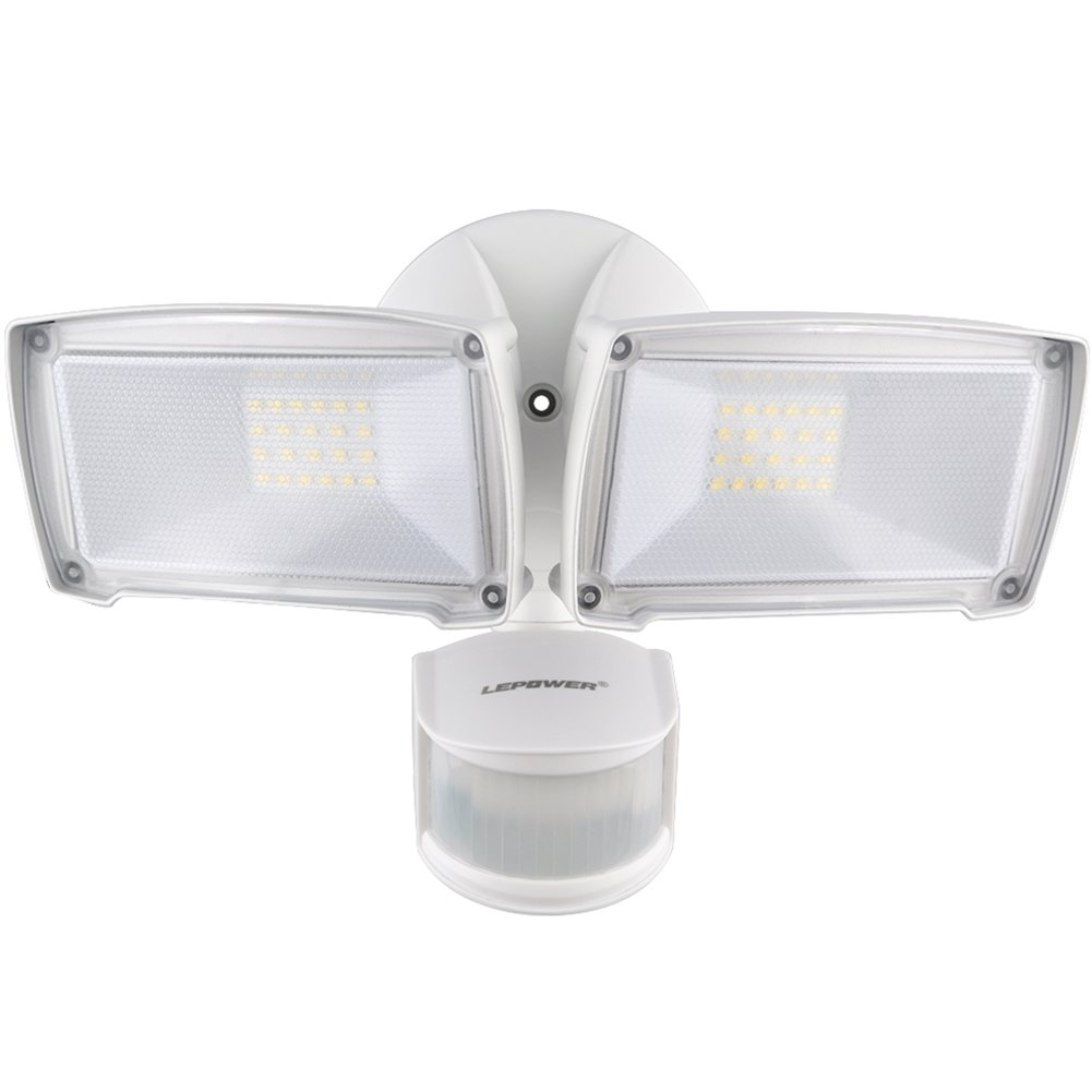 LEPOWER 3000LM LED Security Light, 28W Outdoor Motion Sensor Light, 5500K,  IP65 Waterproof