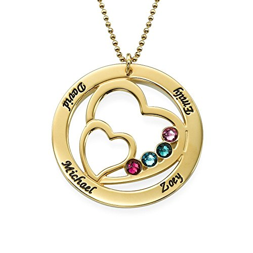 Heart Birthstone Necklace - Silver, Gold or Rose Gold