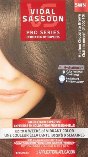 Vidal Sassoon Pro Series Hair Color, 5WN Medium Chocolate Brown, 1 Kit by Vidal Sassoon