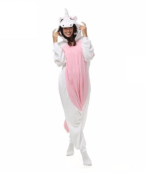 Amazon.com : HYY@ Kigurumi Pajamas Unicorn Leotard/Onesie Halloween Animal Sleepwear Pink Patchwork Polar Fleece Kigurumi UnisexHalloween / Christmas ...