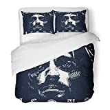 SanChic Duvet Cover Set Face Jesus Christ God Love Good Catholic Messiah Decorative Bedding Set with 2 Pillow Shams Full/Queen Size