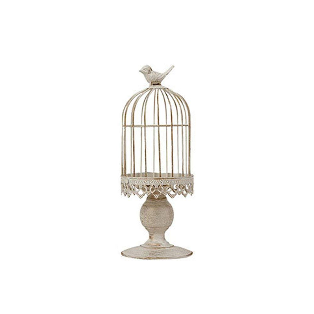 WEISIPU Romantic Vintage Birdcage Candle Holder,Wedding Candle Centerpieces for Tables, Iron Candlestick Holder for Wedding and Home Decor(Small Size)
