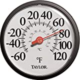Taylor Precision Products Big and Bold Dial Thermometer (13.25-Inch, Black)