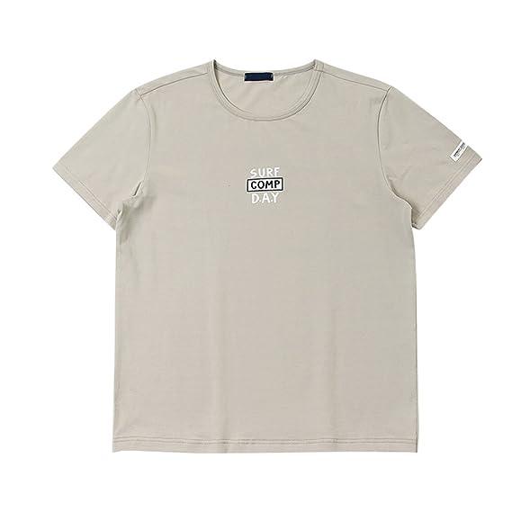 ZKOOO Hombres Básico T Shirt Verano Camisetas Imprenta Suelto Deportivo Manga Corta Camisas Cuello Redondo Tops 7Tdo0z4C8O