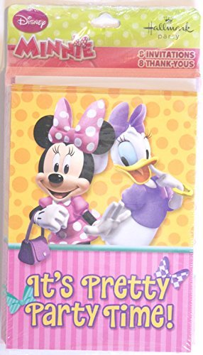 Minnie Mouse 8ct Invitation and 8ct Thank You Notes -