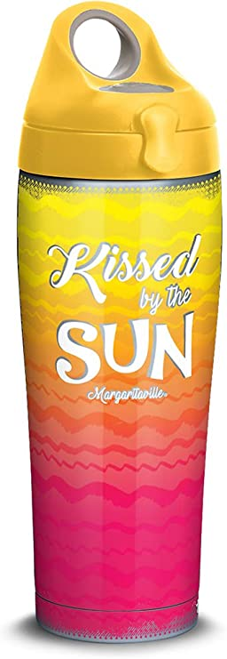 Amazon Com Tervis Margaritaville Kissed By Sun Stainless Steel Insulated Tumbler With Lid 24 Oz Water Bottle Silver Kitchen Dining