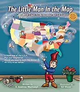 Amazon map tangle toys and games office products the little man in the map with clues to remember all 50 states gumiabroncs Gallery