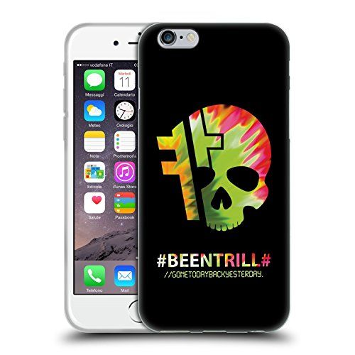 Official Been Trill Hashtag Skull Colourful Prints Soft Gel Case for Apple iPhone 6 / 6s