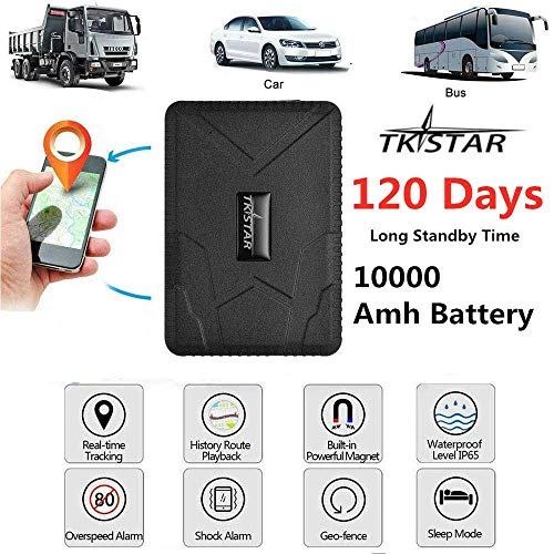 TKSTAR GPS Tracker for Vehicles, 120 Days Long StandBy Car GPS Tracker Strength Magnet For Motorcycle Trucks Anti Theft Alarm TK915