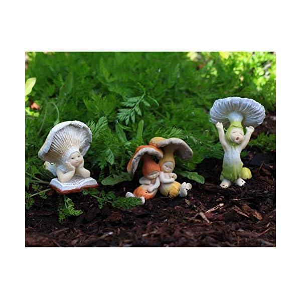 Top Collection Miniature Fairy Garden And Terrarium Sleeping Shroom Babies