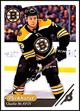 f3a6a8f64 2018-19 Parkhurst Hockey #166 Charlie McAvoy Boston Bruins Official NHL  Trading Card made