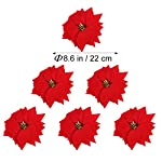 VORCOOL-50PCS-Artificial-Poinsettia-Floral-Heads-Christmas-Tree-Decorations-Xmas-Home-Front-Door-Wreath-Table-Centerpieces-Arrangements-Fake-Hanging-Vine-Swag-Decorative
