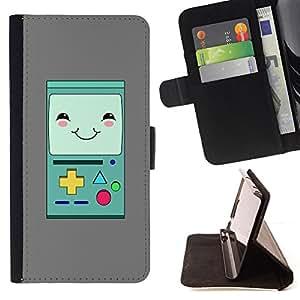 BullDog Case - FOR/Sony Xperia Z1 Compact D5503 / - / game console handheld retro vintage /- Monedero de cuero de la PU Llevar cubierta de la caja con el ID Credit Card Slots Flip funda de cuer