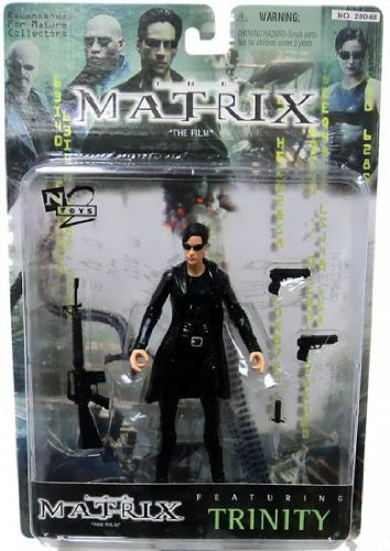 Warner Brothers Toy (1999 Warner Brothers Toys The Matrix Action Figure - Trinity with Coat)