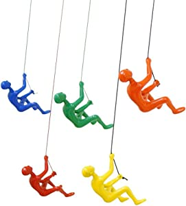 eladitems Yellow,Blue,Orange,Green,red Color Resin Made Climbing Man Wall Art Home Decor X 5pcs. Cord Included in Pictures Hanging Pin Included Free USA Shipping!