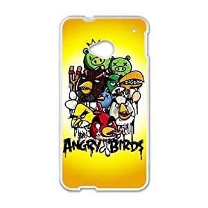 Angry Birds HTC One M7 Cell Phone Case White DIY Gift pxf005_0264939