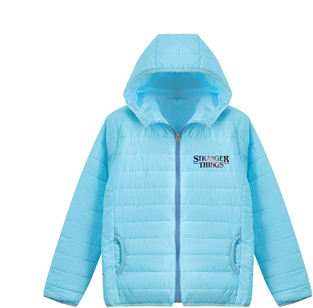 APHT Stranger Things Lightweight Down Jacket Ultra Light Packable Down Jacket Down Filled Coat Parka Quilted Padded Hooded Puffer Jacket Short Winter Jacket with Carry-on Bag