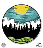 Forest Landscape Sun Nature Scene Outdoor - 12'' Vinyl Sticker Waterproof Decal