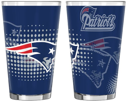 England Patriots Glass 16 ounce 2 Pack product image