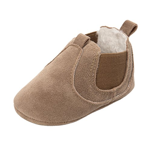 Royal Victory 0-18M Baby Boy Girl Sneakers Faux Suede Toddler Warm Short Boots 11 Colors-RVROVIC (S (Insole: 11cm), Camel-2) - Kid Suede Short Boots