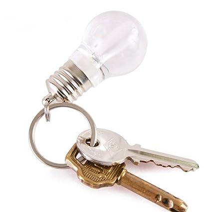 Unisex Clothing, Shoes & Accessories Mini Creative Colorful LED Flash Light Lamp Bulb Torch Pendant Keychain Key Ring Flashlights