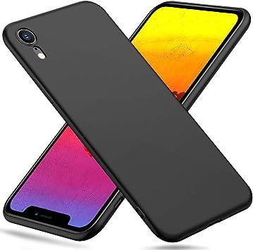Peakally Funda iPhone XR, Negro TPU Suave Funda para iPhone XR ...