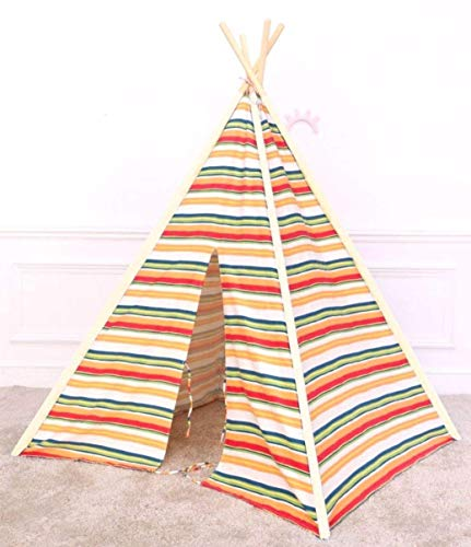 EZSMARTKID Teepee Tent for Kids | Indoor & Outdoor Tee Pee for Children | Boys & Girls Play Tent | Kids Tents & Playhouses | Dream Tents | 100% Cotton and Wood | Made for Reading, Playing & Learning ()