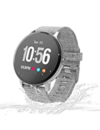 Unique-Fit Smart Watch Fitness Tracker Smart Watch IP67 Monitor de Actividad, Monitor de Pasos, Reloj Deportivo Inteligente para niños, Mujeres y Hombres
