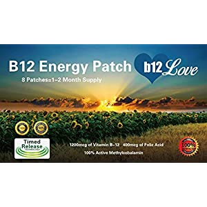 #❶ Vitamin B12 Energy Patch ★ 1200mcg Methylcobalamin + 400mcg Folic Acid ★ 8 Week Supply ★ Boost Energy ★ Reduce Fatigue ★ Increase Focus ★ Maximum Absorption Compared to B12 Pills ★ 100% Money Back Guarantee by B12Love