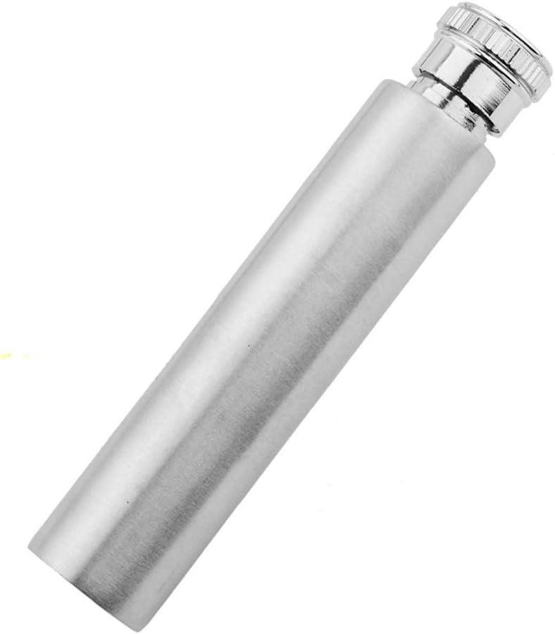 edelstahl Goodfeer Edelstahl-Flachmann silber 28 g f/ür den Au/ßenbereich tragbar Mini-Wein-Trinkr/öhre Tasche f/ür Whisky