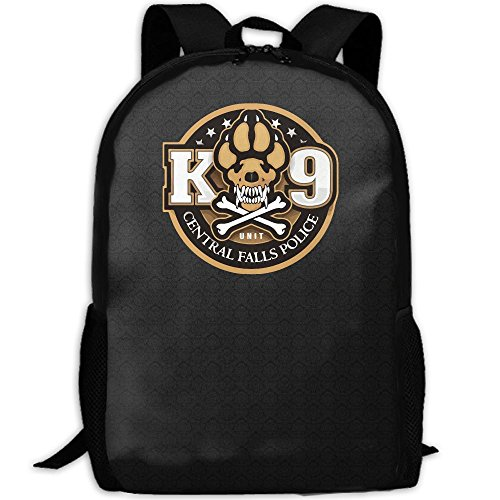 K-9 Unit Central Falls Police Unique Outdoor Shoulders Bag Fabric Backpack Multipurpose Daypacks For Adult