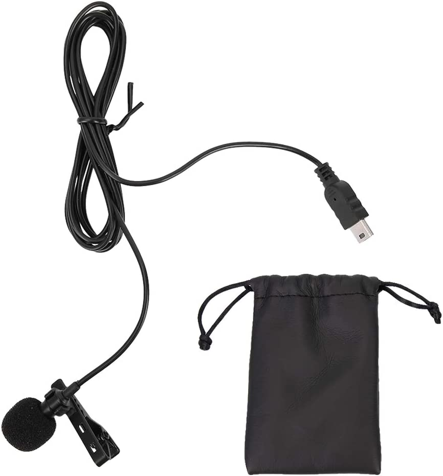 4 Professional Mic with Clip for GoPro Hero 3//3+ Wandisy Mini USB Stereo External Microphone
