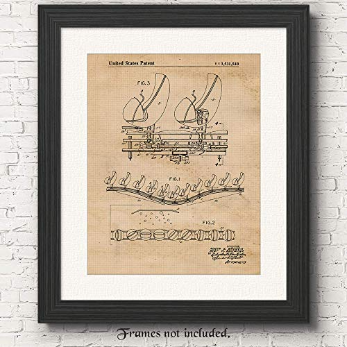 Disney Haunted Mansion Doombuggy Omnimover Patent Art Poster Print - Set of 1 (One 11x14) Unframed - Great Wall Art Decor Blueprint Gifts Under $15 for Disney, Amusement Park Fans
