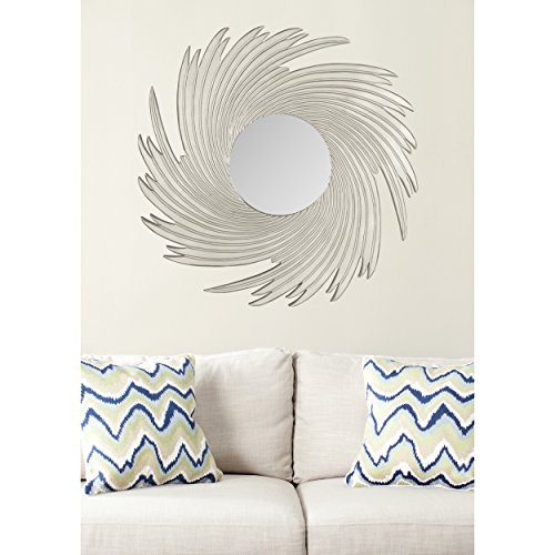 Safavieh Home Collection Nouveau Wave Mirror, Pewter by Safavieh