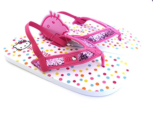 Sanrio Hello Kitty–Mädchen Pretty Hello Kitty Thong Flip Flop/Sandle–Größe 12/13EU 30/31
