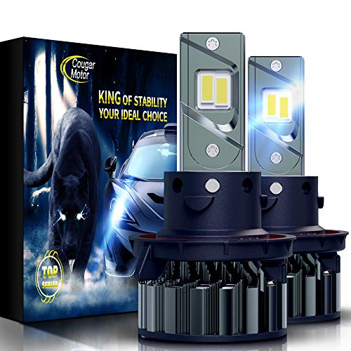 Cougar Motor Flagship H13 LED Headlight Bulbs, Super Bright 12000Lm 6500K Conversion Kit - Cool White CREE (Hi/Low)