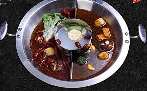WZG Pot hot pot, pot commerciale saveur Yuanyang trois, pot spécial for poêle électromagnétique magasin de hot pot