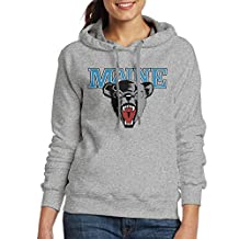 GUC Women's Hoodies - University Of Maine Black Bears Ash L