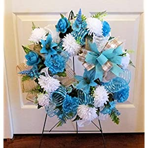 Summer Cemetery Wreath, Father's Day Cemetery Wreath, Summer Grave Wreath 2